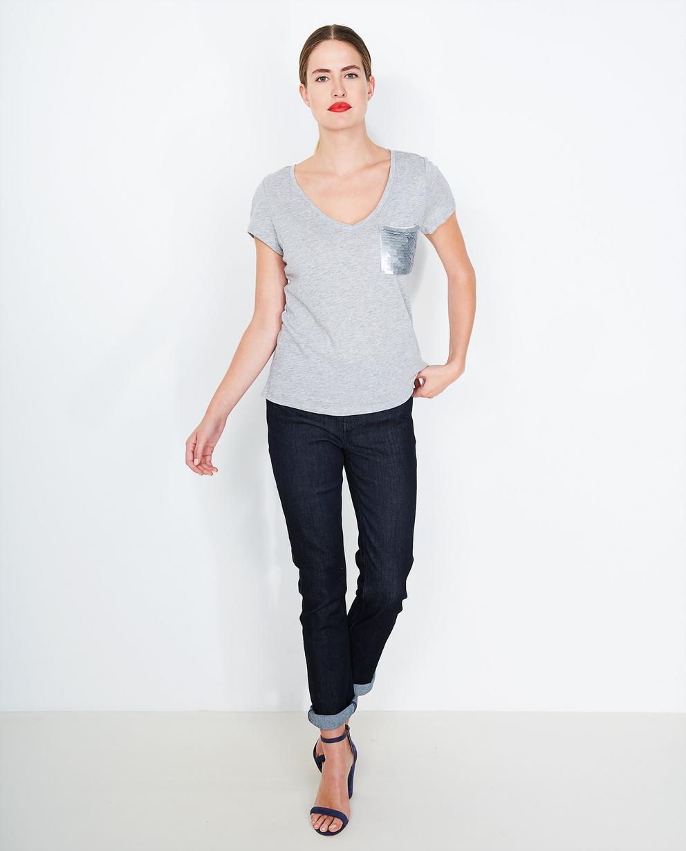 13313c494ac7 T-shirt à paillettes gris chiné JBC   JBC Belgique